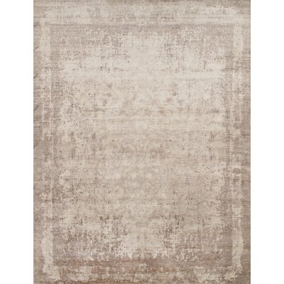 Hand-Knotted Rayon from Bamboo Silk Area Rug
