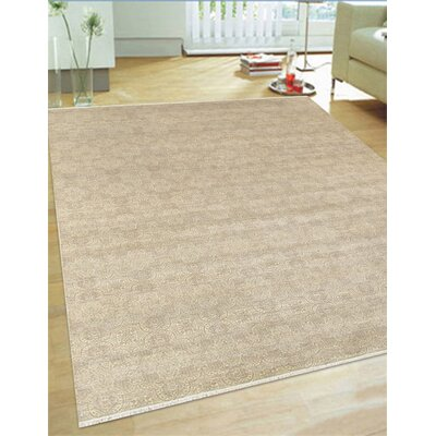Hand-Knotted Wool and Rayon from Bamboo Silk Area Rug Rug Size: 9 x 12