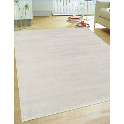 Hand-Knotted Wool Ivory Area Rug Rug Size: 6 x 9