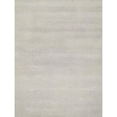 Transitional Hand-Knotted Light Blue Area Rug