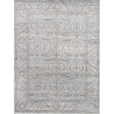 Hand-Knotted Rayon from Bamboo Silk Area Rug Rug Size: 12 x 18