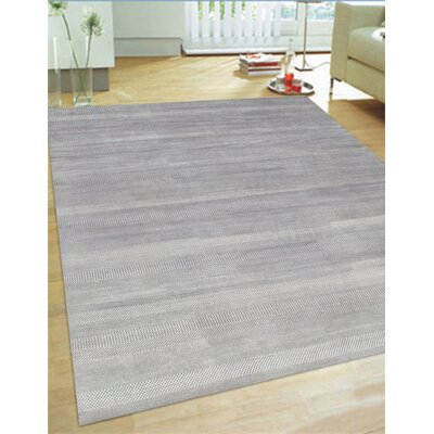 Hand-Knotted Wool and Rayon from Bamboo Silk Area Rug Rug Size: 911 x 142