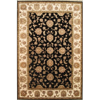 Agra Hand-Knotted Area Rug Rug Size: 62 x 93