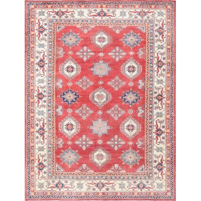 Super Kazak Hand-Knotted Area Rug