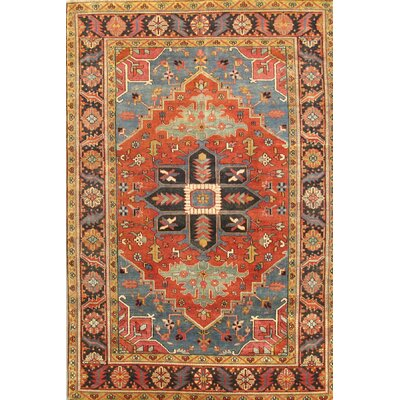 Heriz Hand-Knotted Rust Area Rug Rug Size: 511 x 88