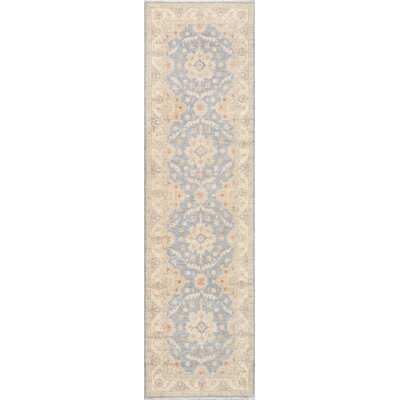 Tabriz Hand-Knotted Light Blue / Tan Area Rug