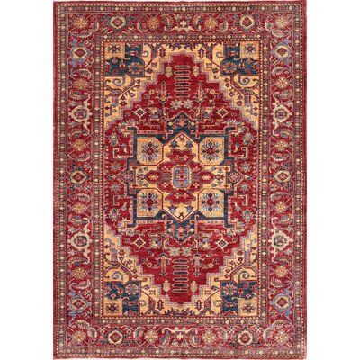 Beshir Hand-Knotted Rust Area Rug