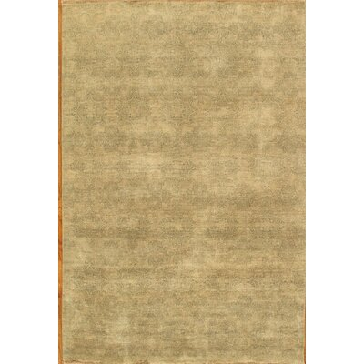 Hand-Knotted Light Green Area Rug
