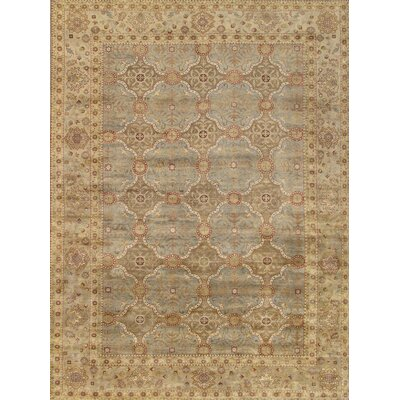 Sultanabad Hand-Knotted Light Blue Area Rug Rug Size: 61 x 810