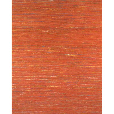 Sari Silk Light Red Area Rug Rug Size: 56 x 86