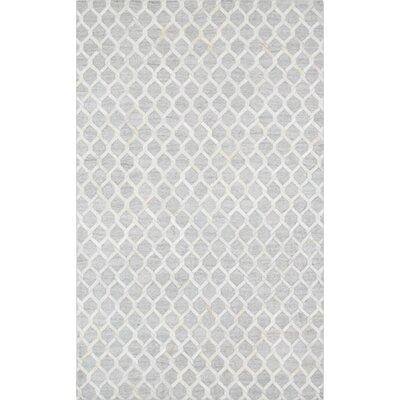 Cowhide and Sari Silk Hand-Loomed Area Rug