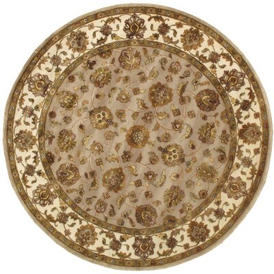 Agra Hand-Knotted Area Rug Rug Size: Round 61
