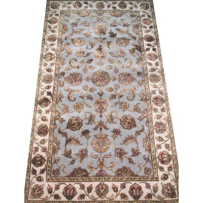 Agra Hand-Knotted Purple Area Rug