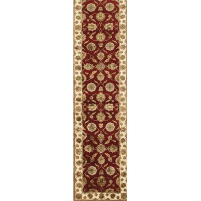 Agra Hand-Knotted Area Rug Size: 27 x 103