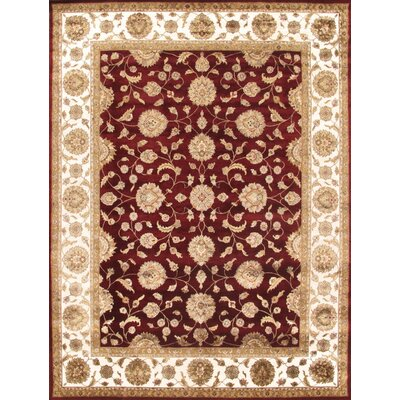 Agra Hand-Knotted Red/Ivory Area Rug