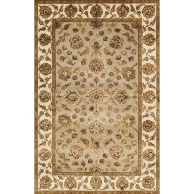 Agra Hand-Knotted Area Rug Size: 41 x 6