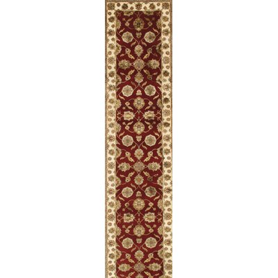 Agra Hand-Knotted Area Rug Size: 2'6
