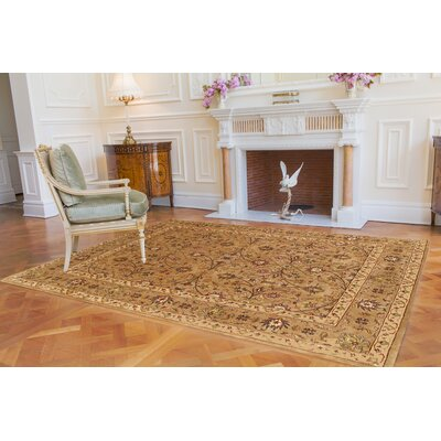 Beige Tabriz Persian Style Area Rug Rug Size: Rectangle 4 x 6