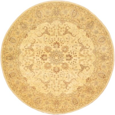 Ferehan Hand-Knotted Area Rug Rug Size: Round 79
