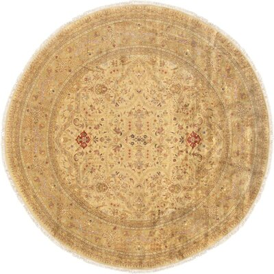 Tabriz Hand-Knotted Area Rug Rug Size: Round 10