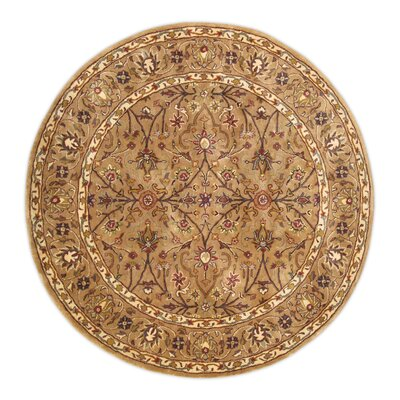 Tabriz Hand-Tufted Area Rug Rug Size: Round 6