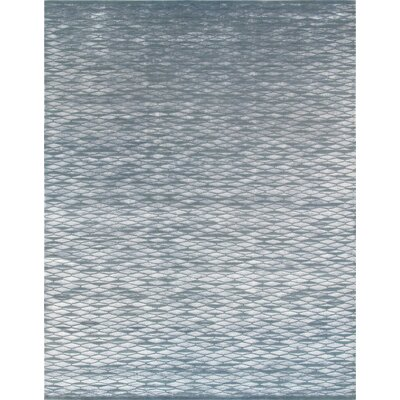 Modern Hand-Knotted Gray Area Rug Rug Size: 2 x 210