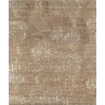 Hand-Knotted Taupe Area Rug