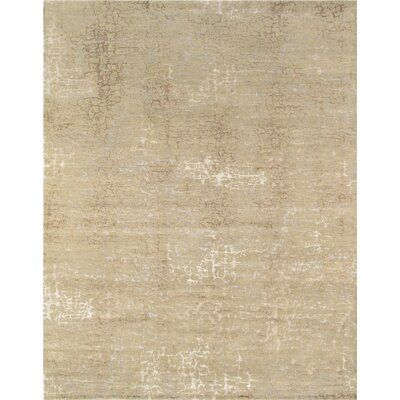 Modern Hand-Knotted Tan Area Rug Rug Size: 81 x 10
