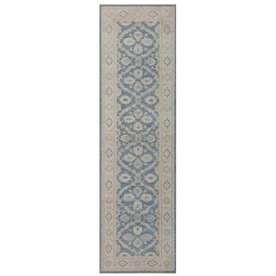 Ferehan Hand-Knotted Light Gray/Blue Area Rug