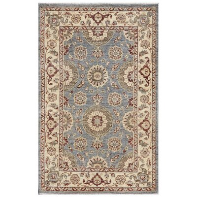 Ferehan Hand-Knotted Ivory/Blue Area Rug