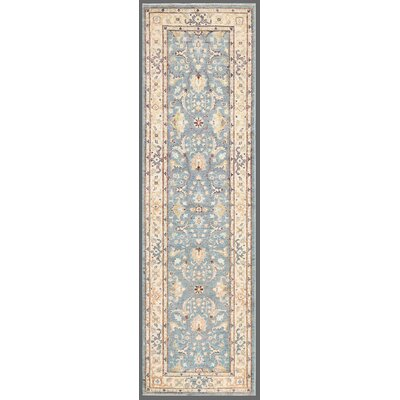 Ferehan Hand-Knotted Ivory/Light Blue Area Rug