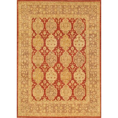 Ferehan Hand-Knotted Rust/Brown Area Rug