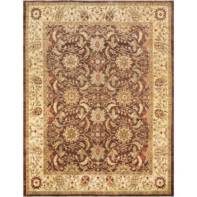 Ferehan Hand-Knotted Brown/Beige Area Rug