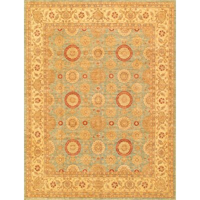 Ferehan Hand-Knotted Light Blue/Beige Area Rug