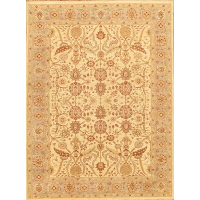Ferehan Hand-Knotted Beige/Light Blue Area Rug