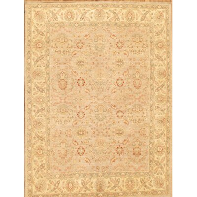 Ferehan Hand-Knotted Silver/Beige Area Rug