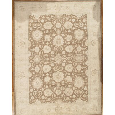 Sultanabad Hand-Knotted Light Brown/Ivory Area Rug