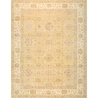 Sultanabad Hand-Knotted Gold Area Rug