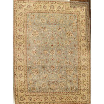 Ferehan Hand-Knotted Light Blue/Ivory Area Rug