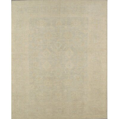 Oushak Hand-Knotted Light Grey Area Rug