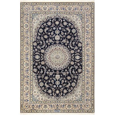 Nain Hand-Knotted Navy Area Rug