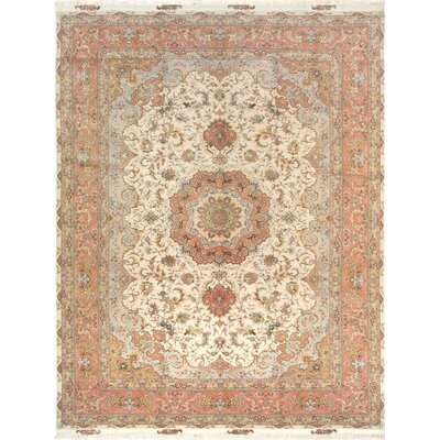 Pasargad Tabriz Collection Hand-Knotted Silk & Wool Area Rug- 8 2 X 11 8