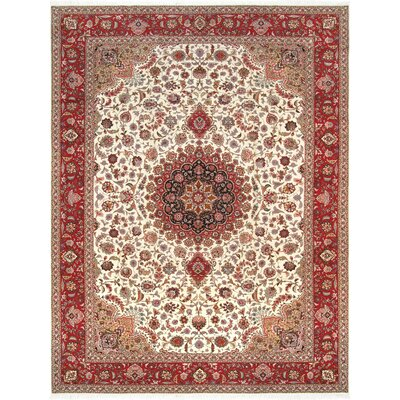 Pasargad Tabriz Collection Hand-Knotted Silk & Wool Area Rug- 8 3 X 11 6