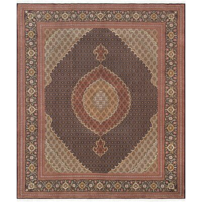 Pasargad Tabriz Collection Hand-Knotted Silk & Wool Area Rug- 8 3 X 9 10