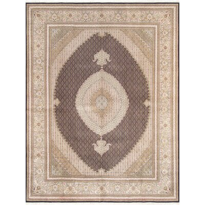 Tabriz Hand-Knotted Brown Area Rug