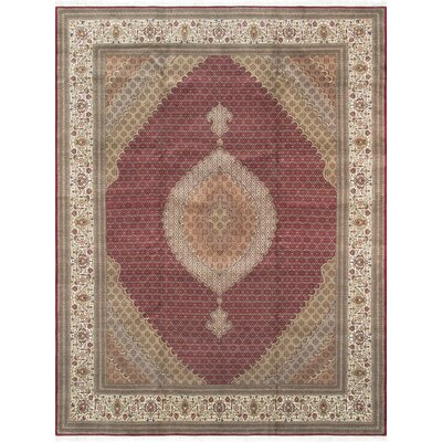 Pasargad Tabriz Collection Hand-Knotted Silk & Wool Area Rug- 9 11 X 13 11
