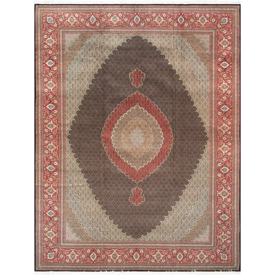 Pasargad Tabriz Collection Hand-Knotted Silk & Wool Area Rug- 9 11 X 13 3