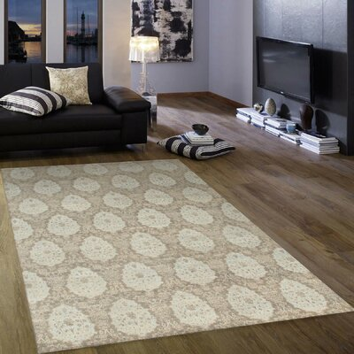 Hand-Knotted Grey Area Rug Rug Size: 8 x 10