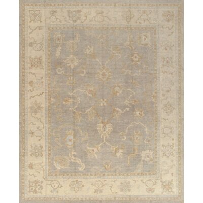 Oushak Hand-Knotted Grey Area Rug