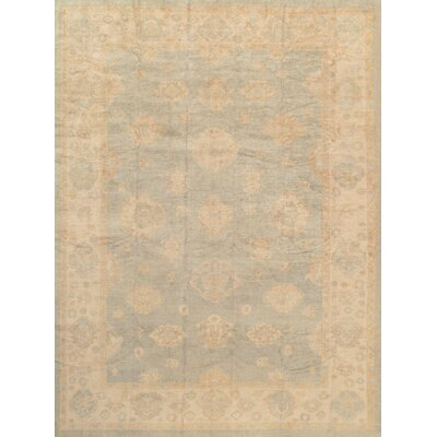 Oushak Hand-Knotted Light Blue Area Rug